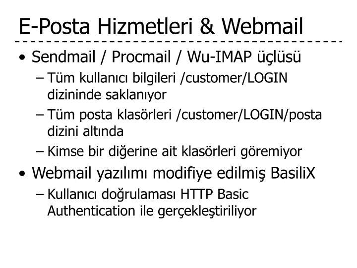 E-Posta Hizmetleri & Webmail