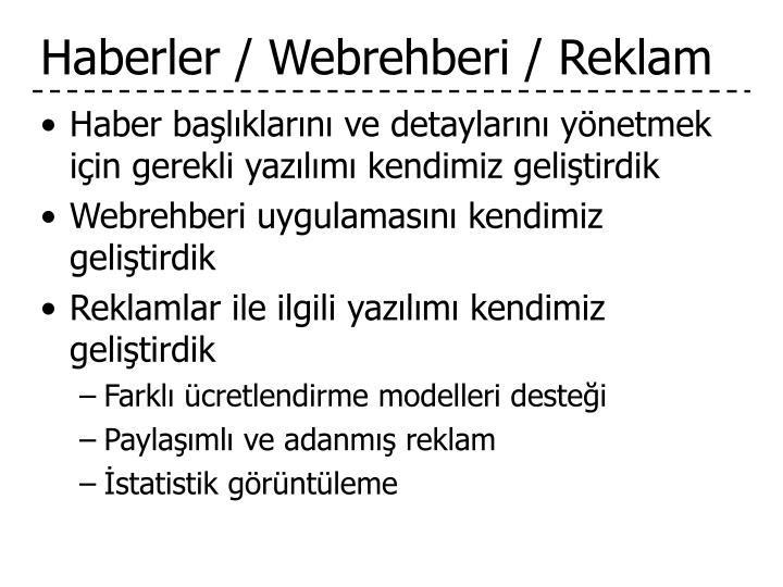 Haberler / Webrehberi / Reklam