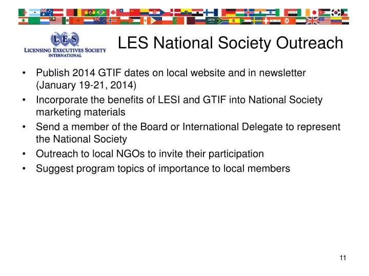 LES National Society Outreach