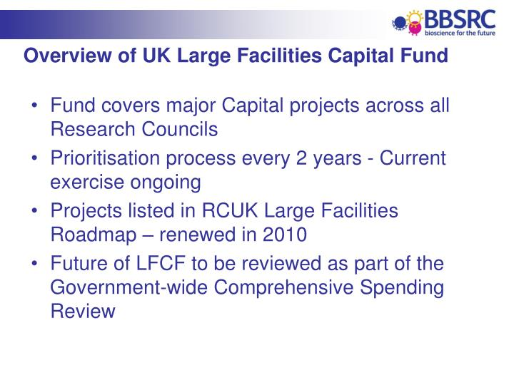 Overview of UK Large Facilities Capital Fund