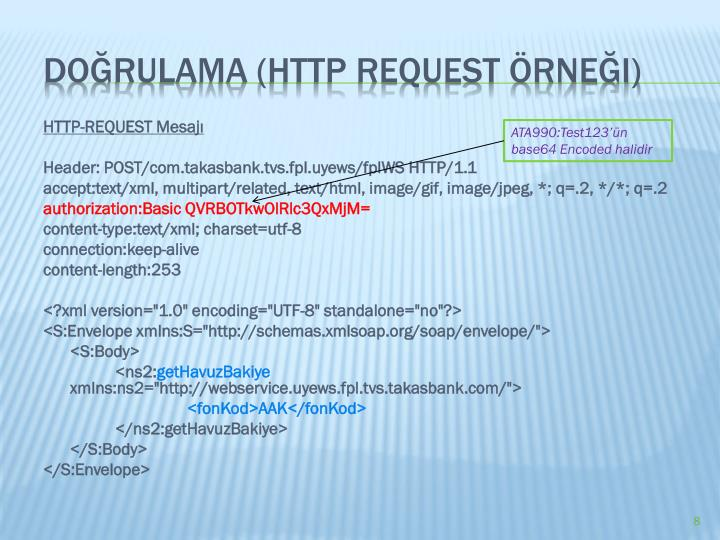 HTTP-REQUEST Mesajı