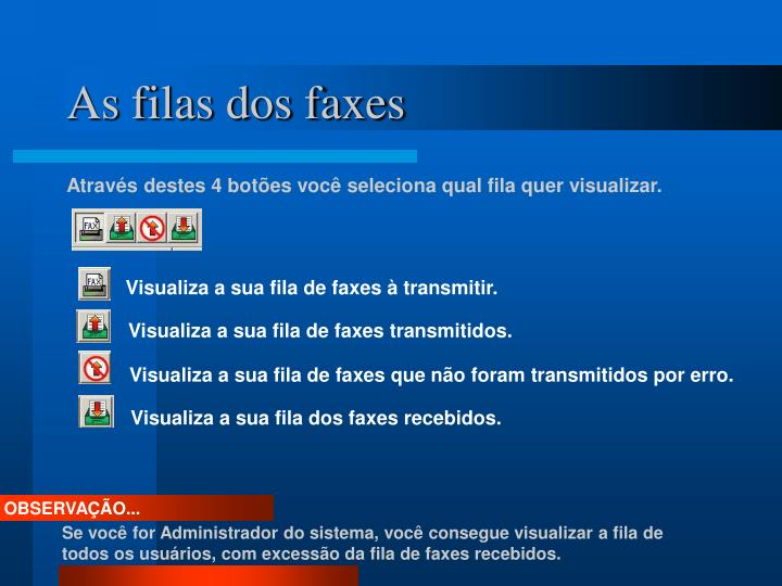 As filas dos faxes