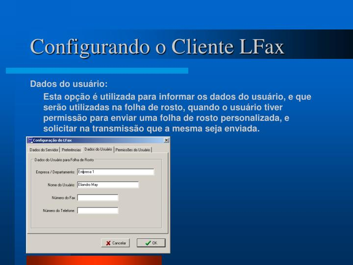 Configurando o Cliente LFax