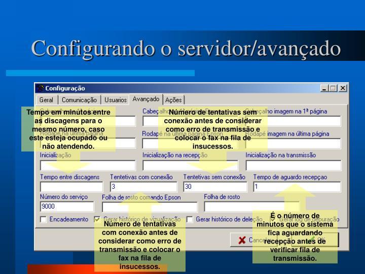 Configurando o servidor/avançado