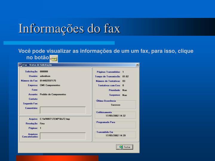 Informações do fax