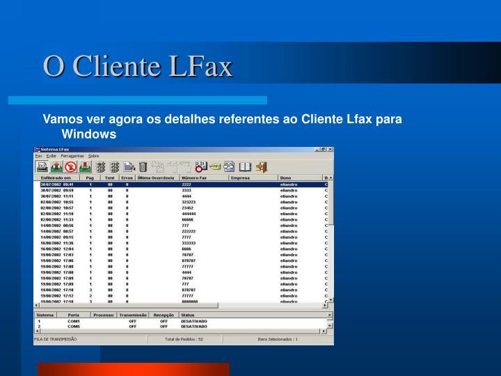 O Cliente LFax