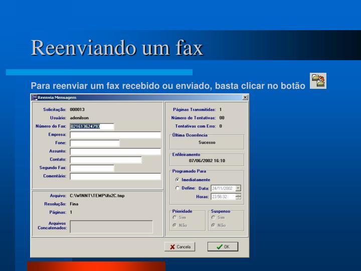 Reenviando um fax