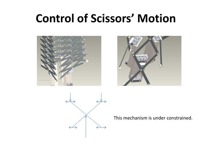 Control of Scissors' Motion