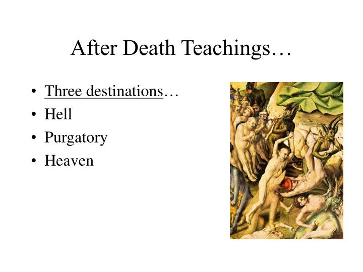 After Death Teachings…