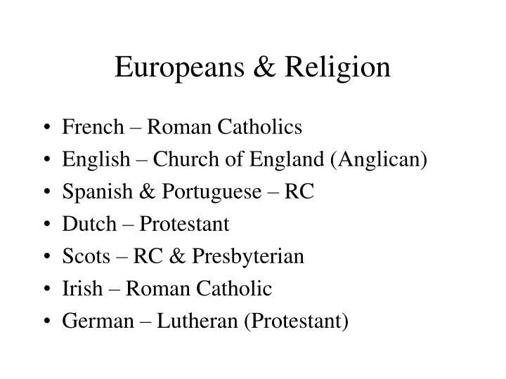 Europeans & Religion