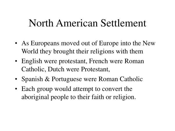 North American Settlement