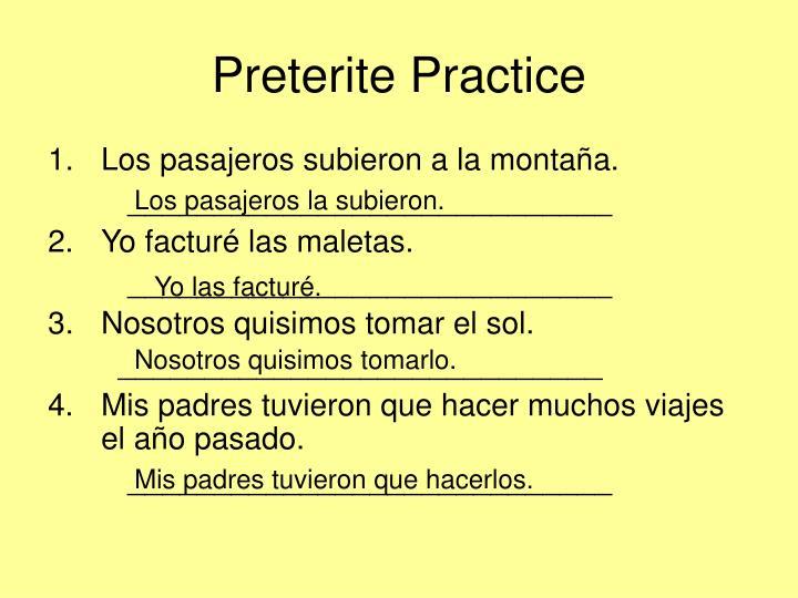 Preterite Practice