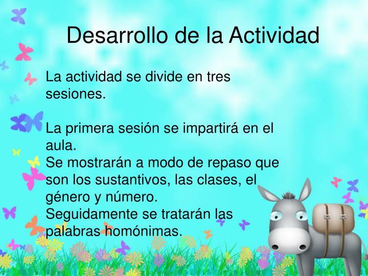 Desarrollo de la Actividad
