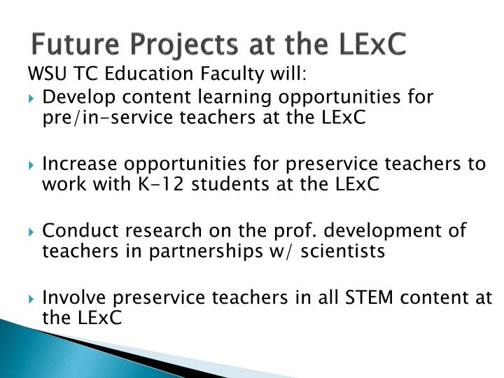 Future Projects at the LExC