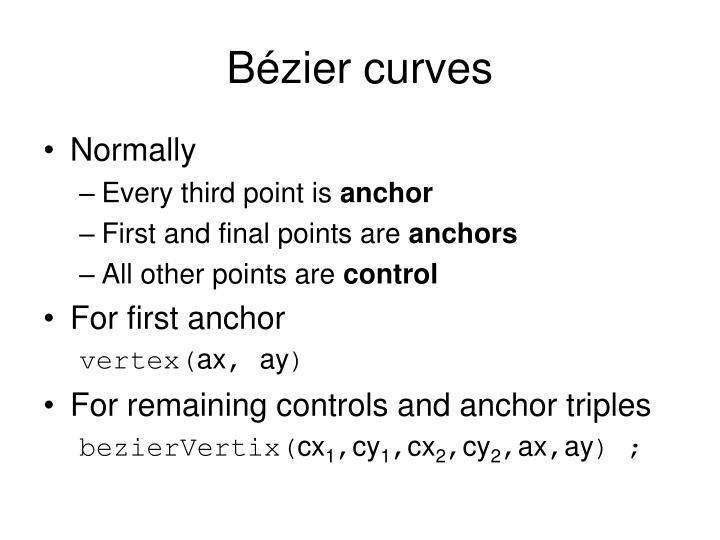 Bézier curves