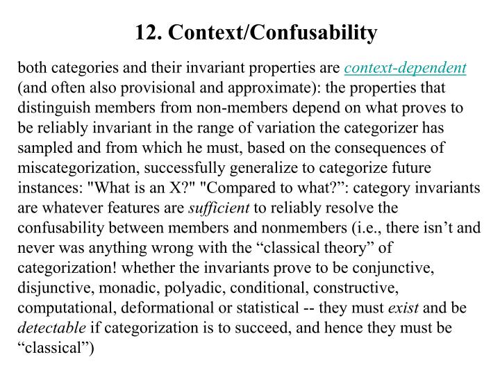 12. Context/Confusability