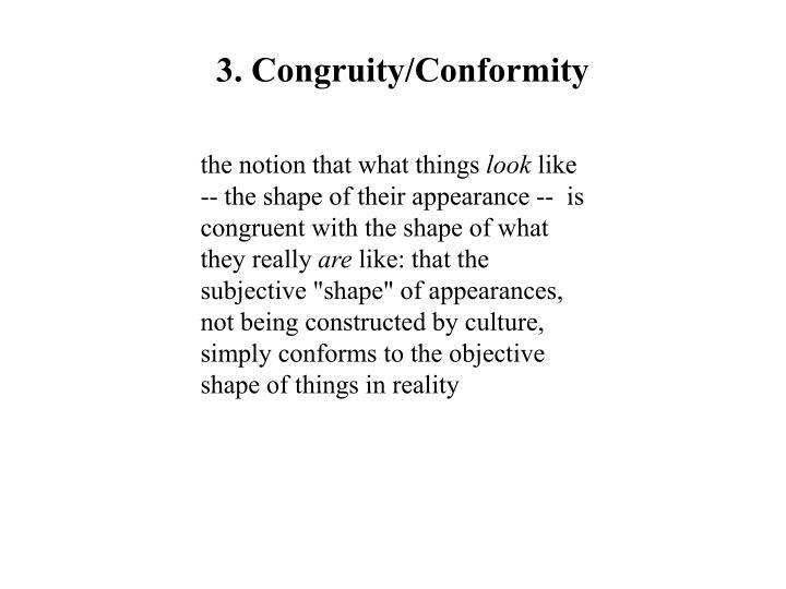 3. Congruity/Conformity