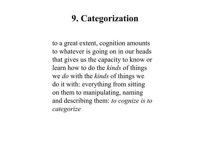 9. Categorization