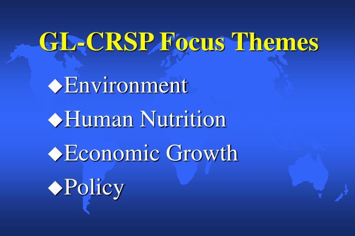 GL-CRSP Focus Themes