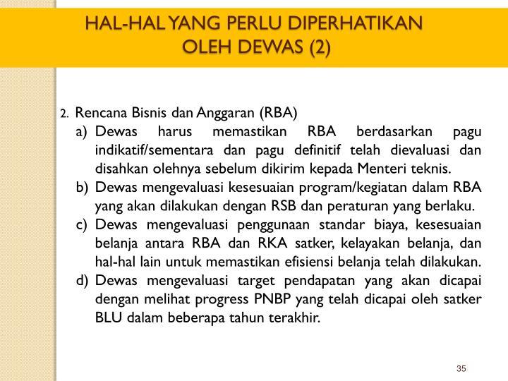 Rencana Bisnis dan Anggaran (RBA)