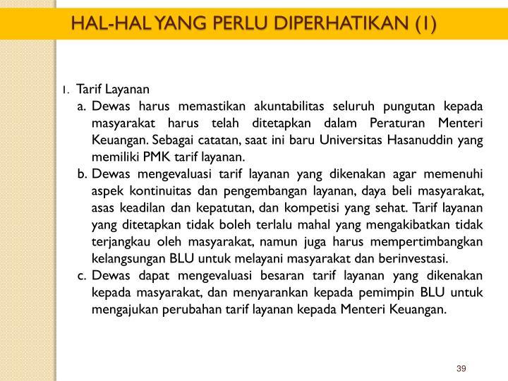 Tarif Layanan