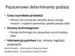 pozacenowe determinanty poda y