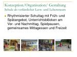 konzeption organisation gestaltung schule als verl sslicher lern und lebensraum