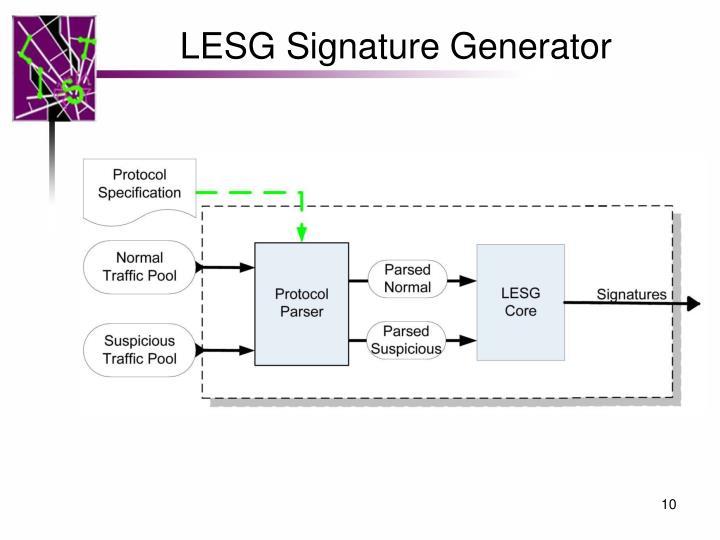 LESG Signature Generator