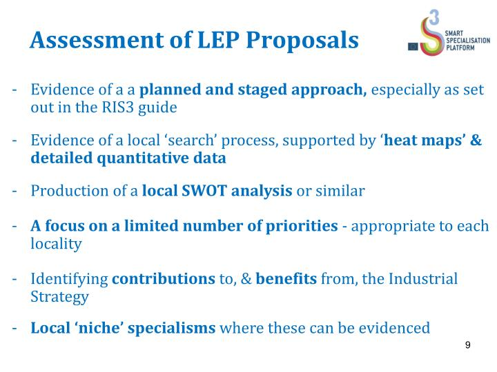 Assessment of LEP Proposals