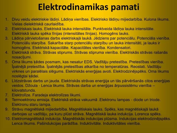 Elektrodinamikas pamati