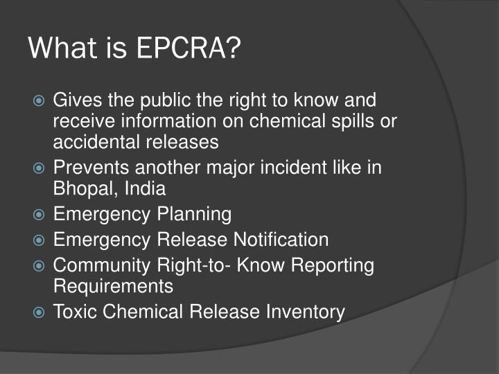 What is EPCRA?