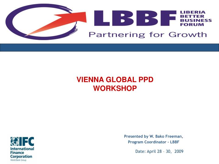 VIENNA GLOBAL PPD WORKSHOP