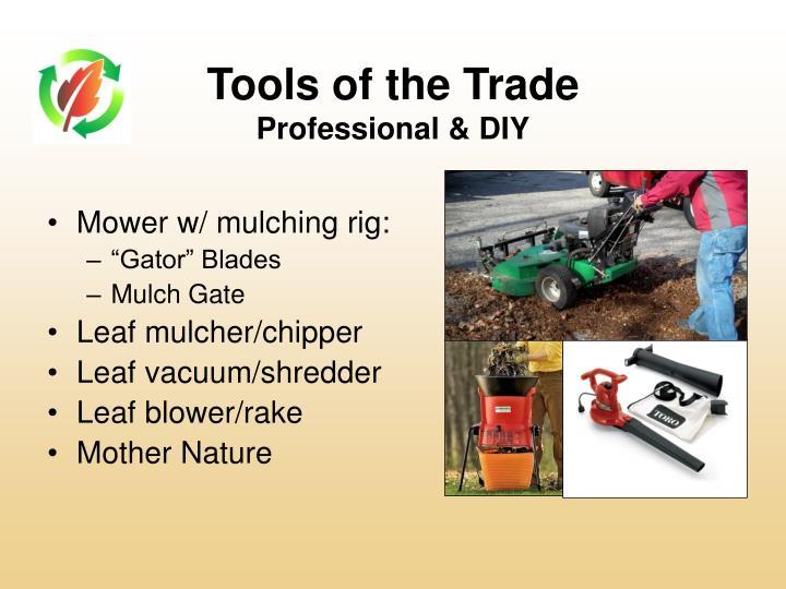 Mower w/ mulching rig: