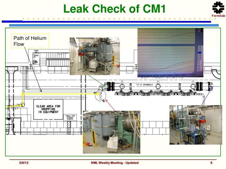 Leak Check of CM1