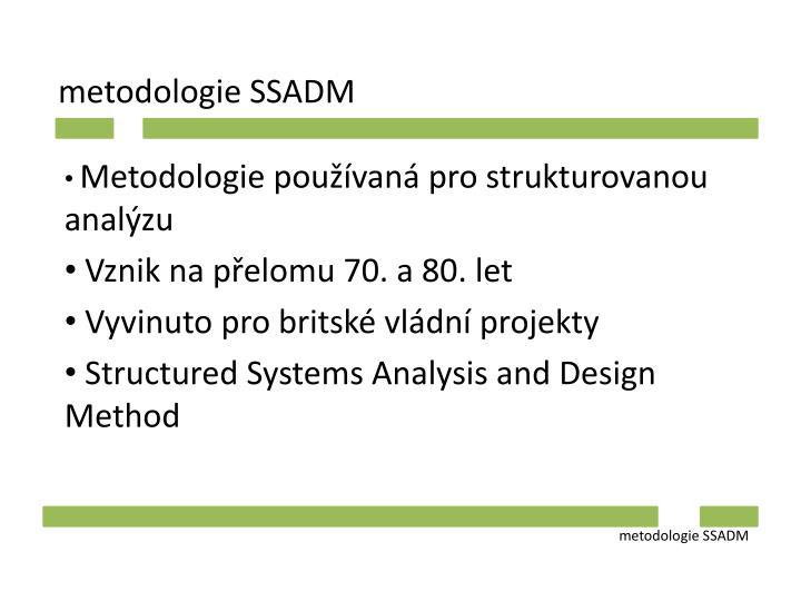 metodologie SSADM