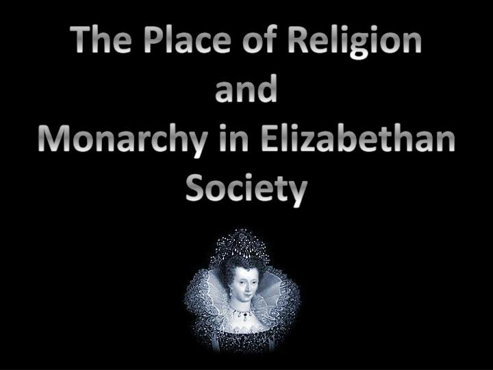 The Place of Religion and