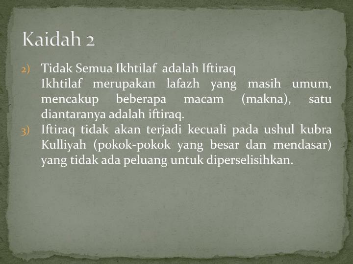 Kaidah 2