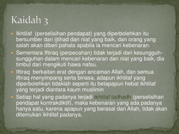 Kaidah 3