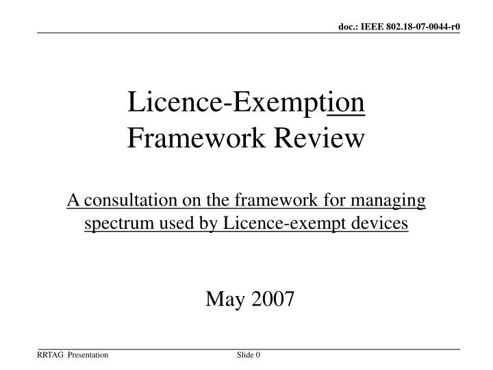 Licence-Exempt