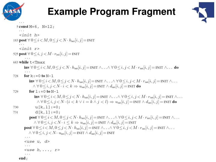 Example Program Fragment