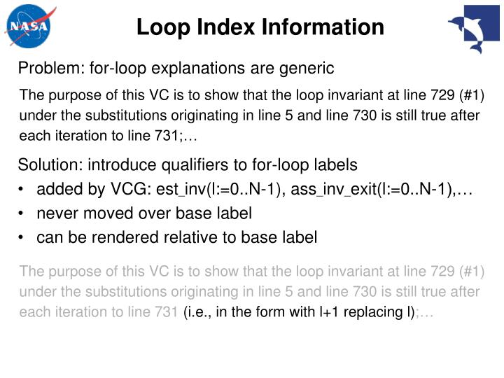 Loop Index Information