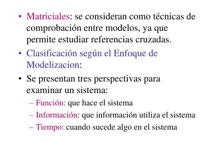 Matriciales