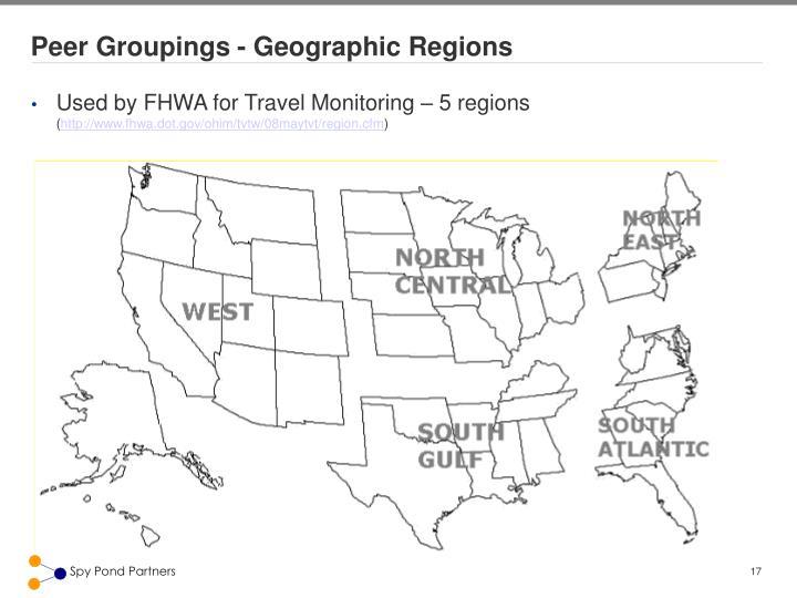 Peer Groupings - Geographic Regions