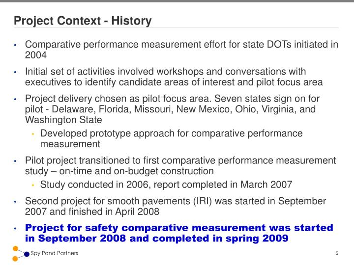 Project Context - History