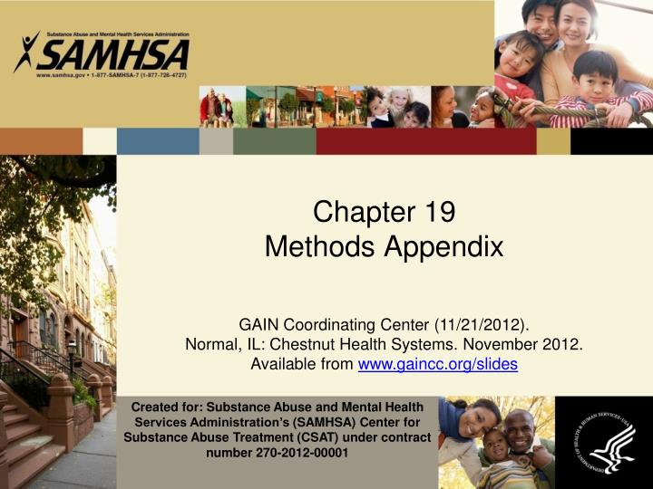 Chapter 19 methods appendix
