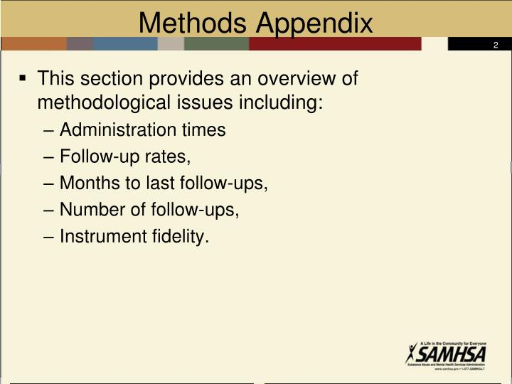 Methods Appendix