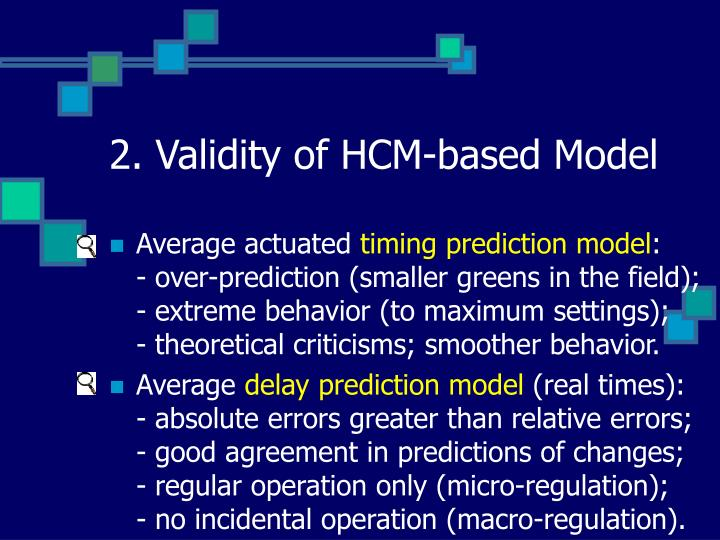 2. Validity of HCM-based Model