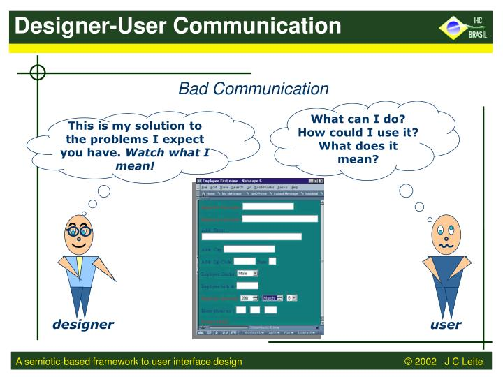 Designer-User Communication