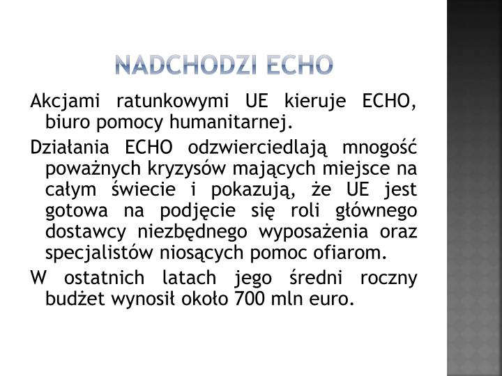 Nadchodzi ECHO