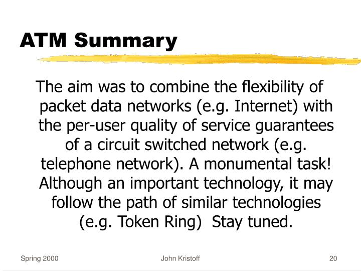 ATM Summary